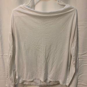 GAP White Long Sleeve Swoop Neck Shirt